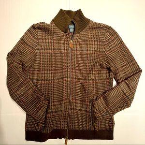 Ralph Lauren Petite Cotton Full-Zip Sweater womens